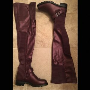 Caterine Thigh-High Flat Boots